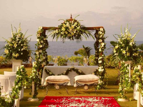 Seville wedding ceremony decoration